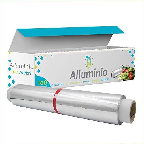 Palucart 1 rouleau aluminium 100 mètres papier aluminium cuisine