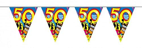10 m verjaardag wimpel slinger ketting 50 jaar party decoratie verjaardag