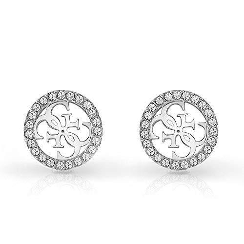Guess Damen-Ohrstecker Edelstahl 46 Kristall One Size Silber 32002325