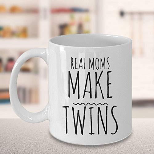 Taza de café divertida Taza de té para hombres Mujeres Mamá de gemelos Taza de mamá de gemelos Taza Madre de gemelos Mamá de gemelos - Las mamás reales hacen gemelos Taza Taza de cerámica divertida Ma