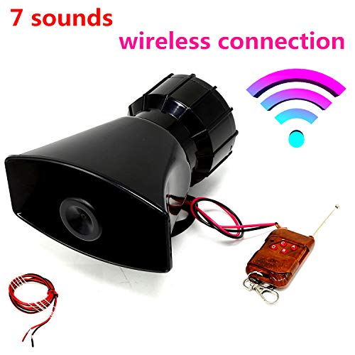 Viping Car Remote Horn Car Horn Siren 100W Police Car Siren Horn Siren Speaker Wireless Horn Speaker System Emergency Sound Amplifier Alarm Kit Alarm Horn for Any 12V Truck Lorry Boat car ect