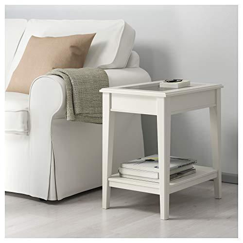 IKEA 401.730.65 Liatorp - Mesa Auxiliar (Cristal), Color Blanco