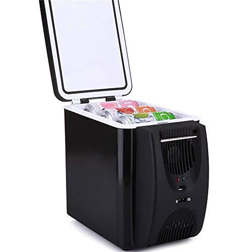 GUOCAO Refrigerador de coche, refrigeración y aislamiento para coche, sistema termoeléctrico de 6 L con adaptador de CC para viajes, picnic, camping, uso en casa y oficina, mini frigoríficos