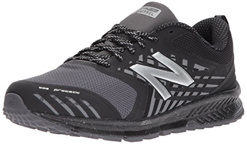 New Balance Men's Nitrel v1 FuelCore Trail Running Shoe, Black/Grey, 11 4E US