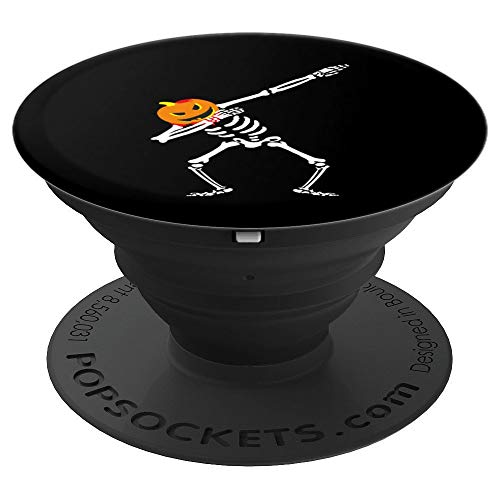 Fun Halloween Pumpkin Skeleton Dabbing Dance Scary Gift Boys PopSockets Grip and Stand for Phones and Tablets