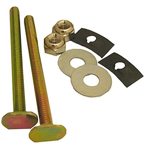 LASCO 04-3633 Solid Brass 1/4-Inch by 3-1/2-Inch with Nuts and Washers Toilet Bolts