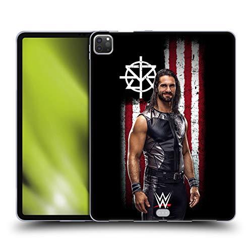 Head Case Designs Oficial WWE Seth Rollins Bandera Americana Superstars Carcasa de Gel de Silicona Compatible con Apple iPad Pro 12.9 (2020)