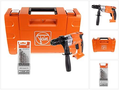 FEIN ABOP 10 Select Brushless 18 V Li-Ion accu-boormachine met metalen boorhouder in koffer HSS spiraalboorset Cobalt 5% 2-8 mm 6-delig