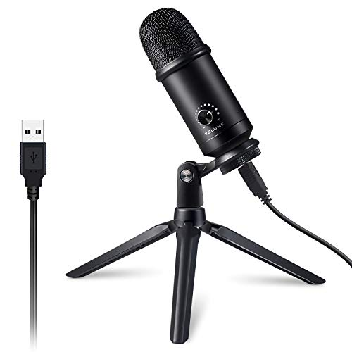 Victure USB Microphone Kit for Computer, Metal Condenser Recording Mic for PC Laptop MAC or Windows Cardioid Studio Recording Vocals, Streaming Podcast and YouTube Videos Conference Gaming