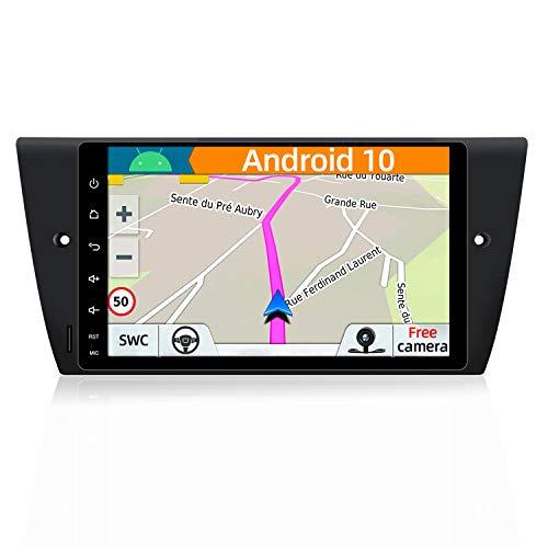 YUNTX Android 8.1 Autoradio Compatibile con BMW E90 Saloon/E91 Touring/E92 Coupe/E93 Cabriolet -2G32G-GPS 2 Din-Telecamera Posteriore Gratuiti- Supporto DAB+/Controllo del volante/Bluetooth/Mirrorlink