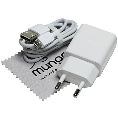 Ladekabel für Original Huawei HW-050200E01 + Datenkabel für Huawei Ascend P7/P7 Mini/P8/P8lite/P6/Mate 7/Mate S Travelcharger Ladegerät mit mungoo Displayputztuch