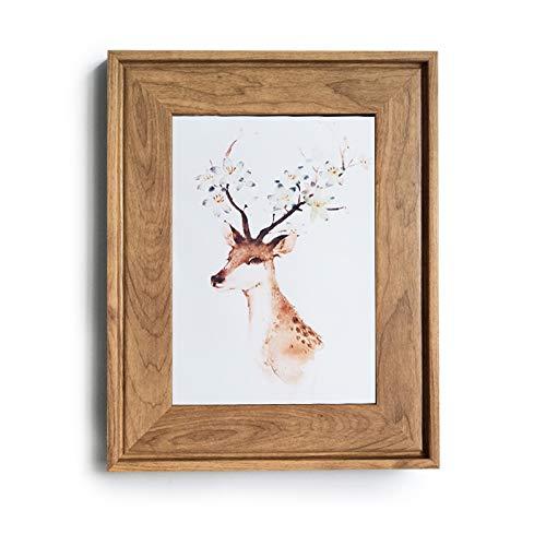 HUIXIANG Marcos de Fotos Vintage 15x20cm Retro Marco de Fotos Clásico de Retrato Decoración de Pared y Exhibición de Mesa, Regalo para Hogar, Oficina, Galería, Fotografías de Boda (Color de la madera)