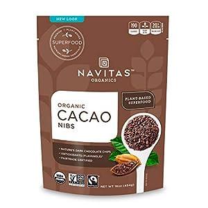 Navitas Organics Raw Cacao Nibs, 16oz. Bag, 15 Servings - Organic, Non-GMO, Fair Trade, Gluten-Free