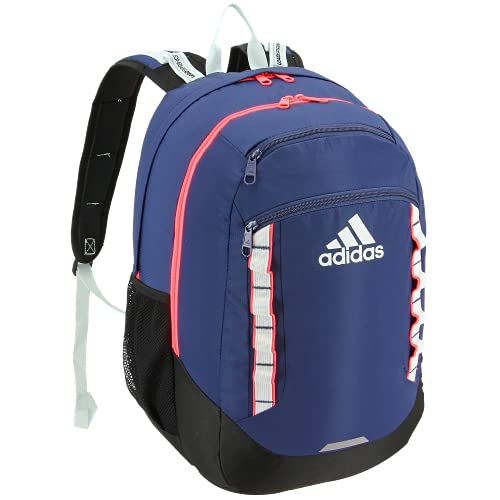 adidas Excel Backpack, Tech Indigo Blue/Signal Pink/Dash Green, One Size