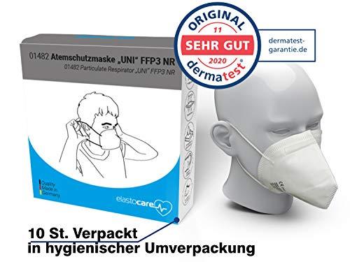 10x FFP3 Atemschutzmaske CE-Zertifiziert Made IN Germany FFP3 Maske Staubschutzmaske Atemmaske Staubmaske 10 Stück verpackt in Aufbewahrungsbox und hygienischen PE-Beutel - 3