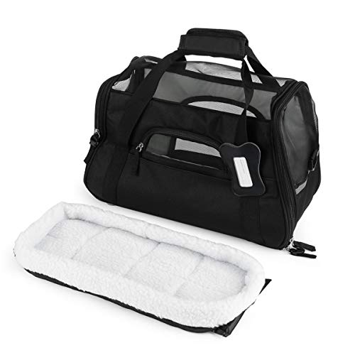 Greatangle 600D Nylon Waterproof Dog Cat Puppy Kitten Bag Pet Carrier Outdoor Travel Carrying Bags Comfortable Soft Bed For Small Pet