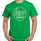 huaping Stiff Records T-Shirt Mens Label Madness The Pogues Elvis Costello Punk Damned Green S