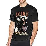 J Co-le Immortal 2020 Vintage Men's Cotton Sport Short Sleeve t-Shirt Large Black