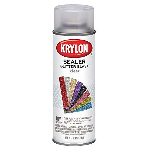 Krylon K03800000 Glitter Blast, Clear Sealer Fast Drying Coat to Increase Durability, 6 oz
