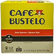 Keurig Cafe Bustelo Coffee Espresso K-Cups Cuban (18 count)