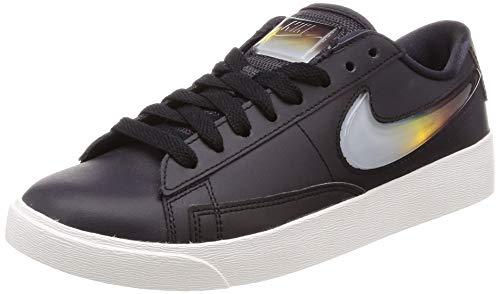 Nike W Blazer Low LX, Scarpe da Basket Donna, Grigio/Cremisi Acceso/Bianco (Oil Grey/Bright Crimson/Summit White 002), 39 EU