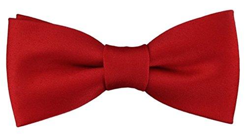 TigerTie Pajarita bebé en rojo roja-brillante con banda elástica 29 a 40 cm extensa cuello ajustable + caja