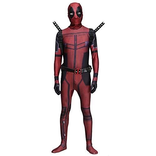 ASPIDER Marvel Deadpool Cosplay Kostüm Trikot Erwachsenen Kostüm Ball Spandex Jumpsuit (Farbe : Adult, größe : L)
