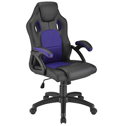 ArtLife Racing Schreibtischstuhl Montreal violett   Armlehnen gepolstert & ergonomische Rückenlehne   Bürostuhl Drehstuhl Gaming-Stuhl