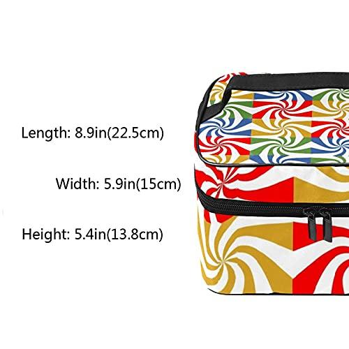 Bolsa de maquillaje de viaje grande bolsa de cosméticos Lollipop colorido maquillaje caso organizador con bolsa de malla para mujeres y niñas