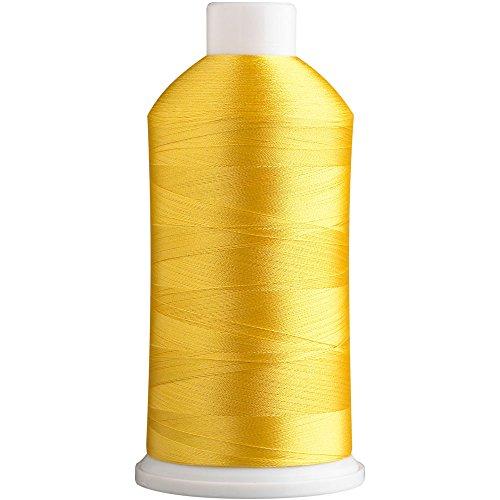 SuperB Stickgarn, Polyester, 5000 m 5000m. Gelbe Schwefelblume 419