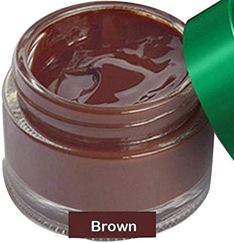 Hcxh-A Dequate Leder Farbe Restorer, Lederbalsam, Leder Refurbishing Repair Cream-Reiniger-Set, for Auto-Auto-Sitz Sofa Scratch Cracks Autopflege Werkzeug (Schwarz) (Color : Brown)