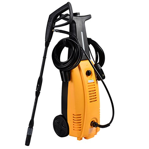 Goplus Electric Pressure Washer, 3000 PSI, 1.6 GPM, 2000W, High Power Cleaner Machine, Yellow