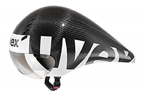 Uvex Fahrradhelm Race 6, Black Carbon Mat, 52-57