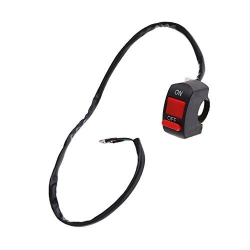 B Blesiya Interruptor de Encendido Y Apagado Universal para Motocicleta, Scooter, Manillar de 7/8'