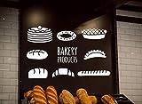 CECILIAPATER Wandaufkleber für Gebäck, Brot, Gebäck, Kuchen, Kekse, Lebensmittel, handgefertigt, 3 Stück