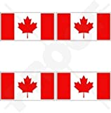 KANADA Kanadische Flagge Ahornblatt 50mm Auto & Motorrad Aufkleber, x4 Vinyl Stickers