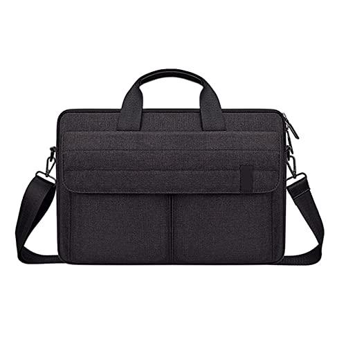 Sonline Laptop Protective Cover 15.6-Inch Men's and Women's Shoulder Bag, Bottom Depth Adjustable,Black