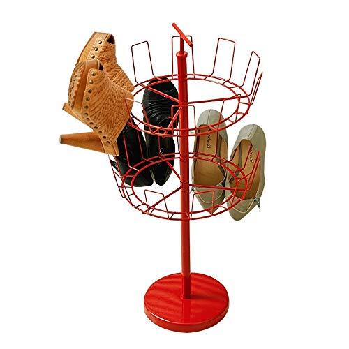 ZAIHW Zapatero Colgante Giratorio de 2 Niveles Estante de Almacenamiento de Zapatos para Entrada Balcón Secado Colgante