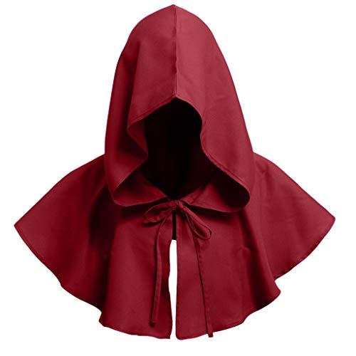 DOLDOA Hut Damen Sommer,Männlicher und weiblicher Erwachsener Mantel-Retro- Sonnenschutz-Hut (Rot)