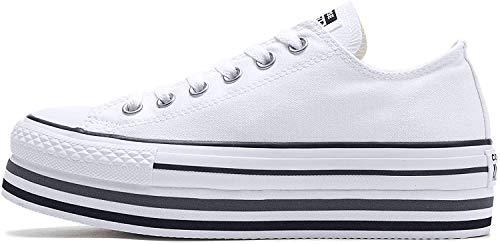CTAS Platform Layer HI Zapatos Deportivos Mujer Blanco 563971C
