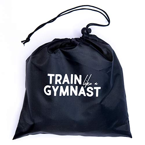 Train Like A Gymnast Kit | at-Home and Travel Workout Kit with Carrying Case | Sliders for Core Strength, Long Elastic & Mini Loop Bands for Resistance Training