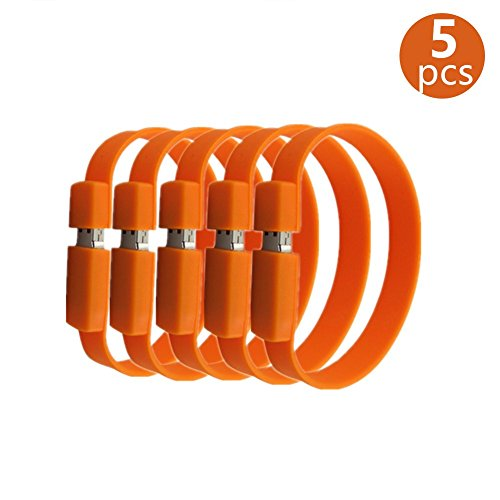 Anloter USB-Stick, USB 2.0, 16 GB, Orange, 5 Stück