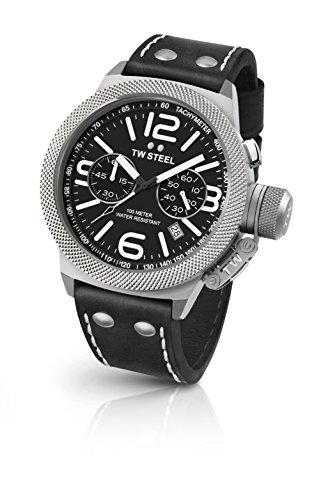 TW Steel Orologio Cronografo Quarzo Unisex con Cinturino in Pelle CS4