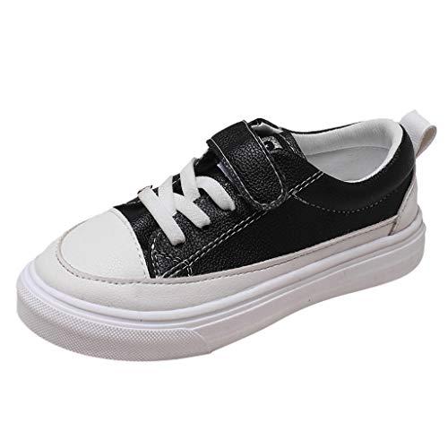 Xshuai ® Chaussures pour bébé – Enfants garçons Filles Porter – Résistantes Casual Board Sneaker Simple Chaussures pour 2-13 Ans - Noir - Noir, Taille Unique
