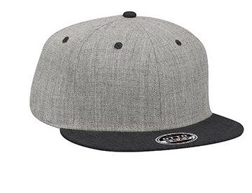 OTTO CAP/Heather Wool Blend Flat Visor Snapback Caps(オットーキャップ/ヘザーウールブレンドフラットバイザースナップバックキャップ) FREE(頭周り57.5cm-62cm) LH:ヘザーブラック/ヘザーグレー