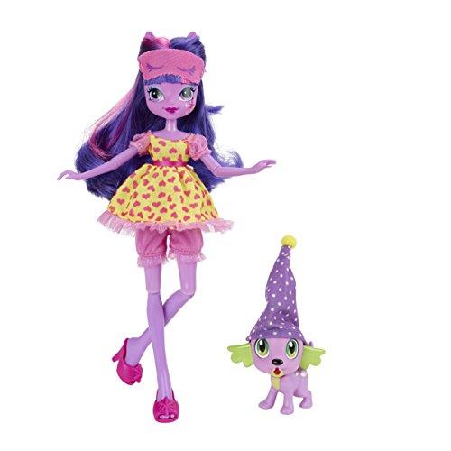 My Little Pony : Equestria Girls – Soirée Pyjama – Twilight Sparkle & Spike Le Chiot – Poupée 23 cm + Animal