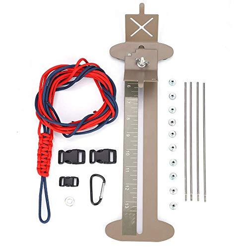 Precedentes Herramienta de la pulsera de Paracord Kit y Jig pulsera fabricante Kit de herramientas de Paracord Paracord de la pulsera ajustable del fabricante del kit de herramientas de metal Weaving