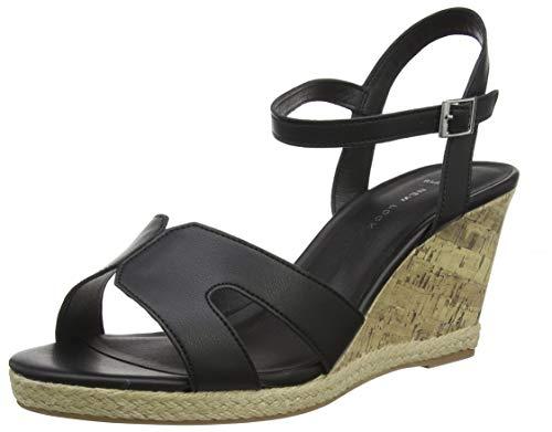 New Look Damen Wide Foot Potter Peeptoe Sandalen, Beige (Black 1), 38 EU