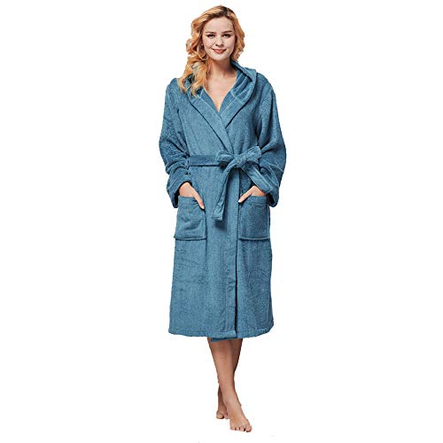beryris Luxury Bathrobe for Women - Women's Terry Cloth Robe in Bamboo Viscose,Thick Material,Towel Terry Fabric … Green