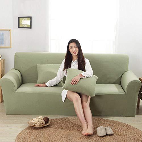 HXTSWGS Fundas de sofá de Grueso,Funda elástica para sofá, Funda para sofá de Sala de Estar, Funda elástica para Muebles-Verde Menta_145-185cm